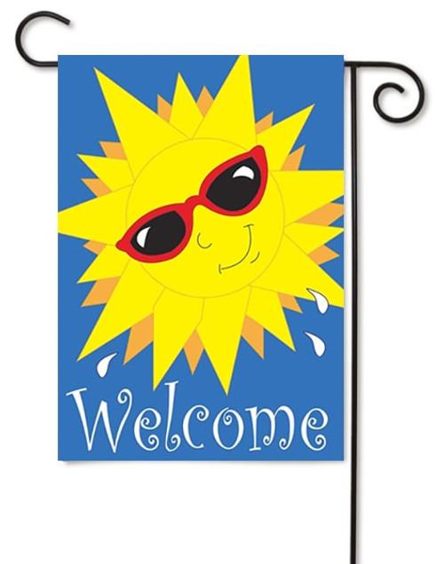 """Sun Welcome Double Applique Garden Flag - 13"""" x 18"""" - Magnolia Lane"""