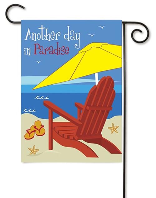 """Beach Chair Double Applique Garden Flag - 13"""" x 18"""" - Magnolia Lane"""