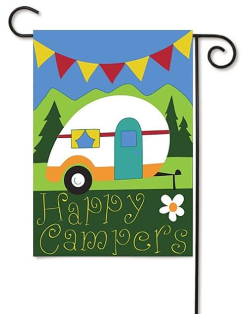"Happy Campers Double Applique Garden Flag - 13"" x 18"" - Magnolia Lane"