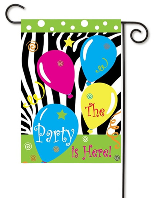 The Party is Here! Double Applique Garden Flag