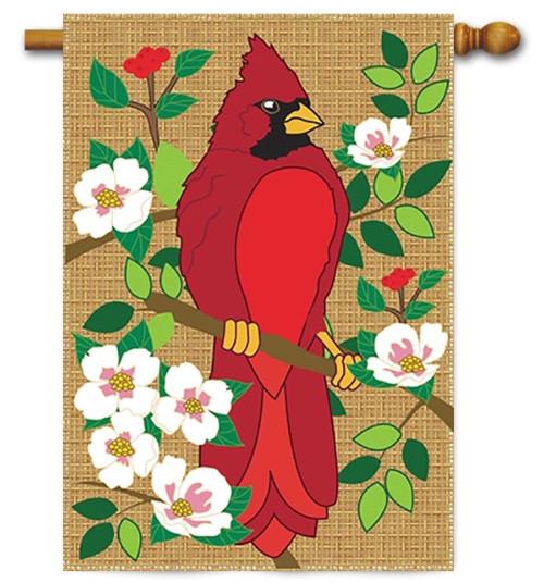 cardinal burlap house flag 29 x 42 magnolia lane magnolia lane flags - Decorative House Flags