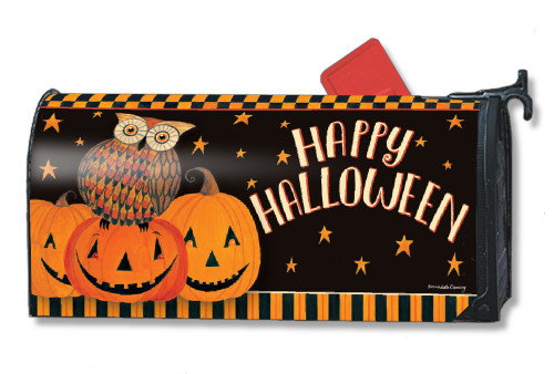 Owloween Fun Magnetic Mailbox Cover