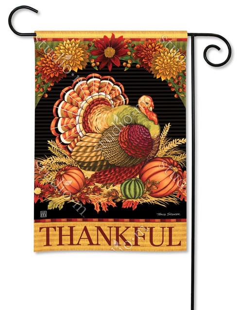 "Thankful Turkey Garden Flag - 12.5"" x 18"" - BreezeArt"