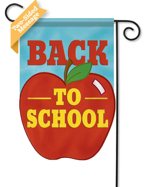 Back to School Applique Garden Flag