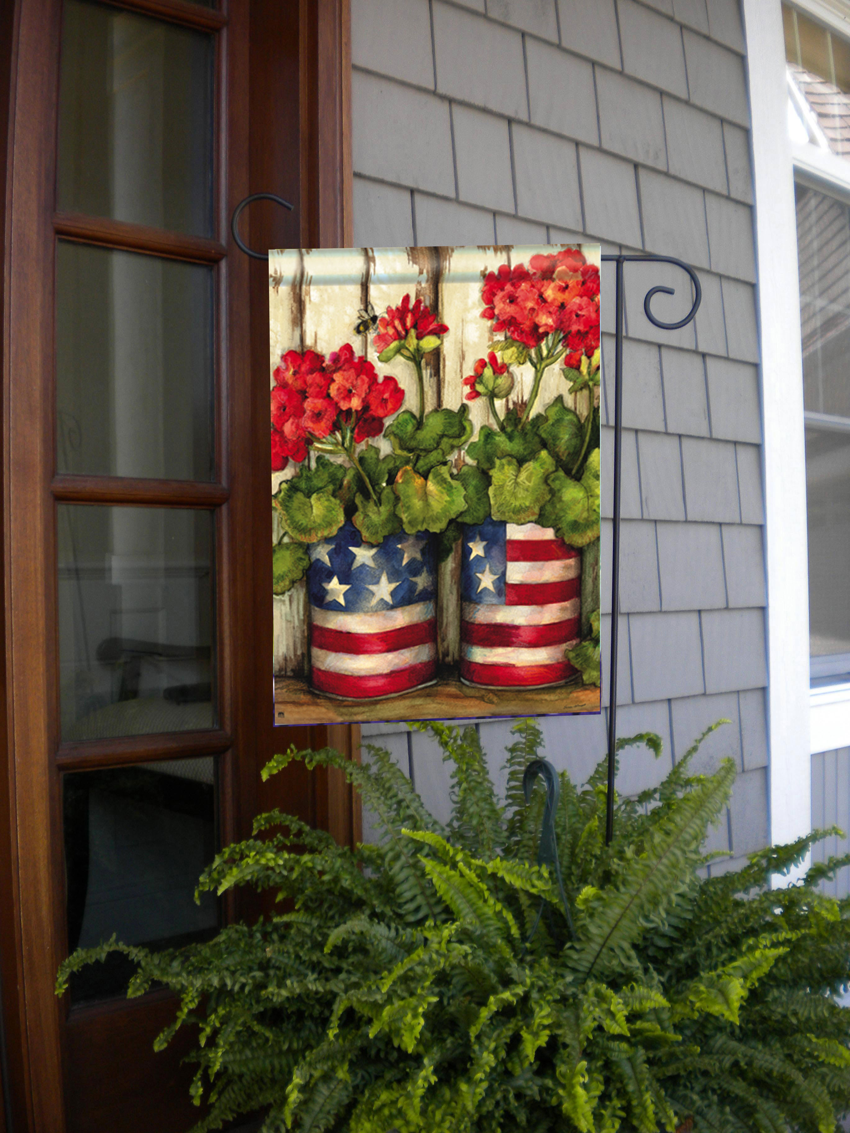 Glory Garden Patriotic Garden Flag by BreezeArt