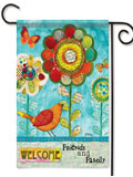Welcome Friends and Family Garden Flag