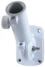 White adjust adjustable flag pole bracket