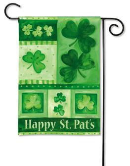BreezeArt Shamrock St Pat's Day Garden Flag
