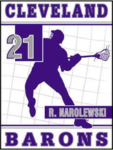 Personalized Lacrosse Flag - House Size 30 x 40