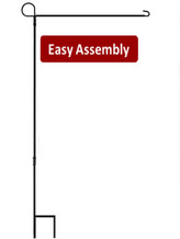 Easy 3 piece assembly - House Flag Stand