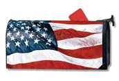 USA Flag Stars and Stripes MailWraps Magnetic Mailbox Cover