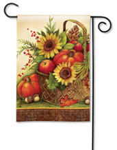 Fall Basket Garden Flag
