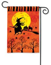 Witch's Ride Garden Flag