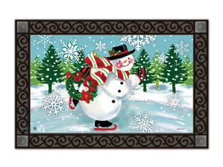 Snowy Skater MatMates Doormat