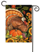 Folk Turkey Garden Flag