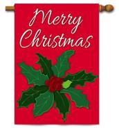 Christmas applique house flag
