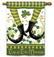 Irish Jig Top Of The Morning Breeze Art House Flag