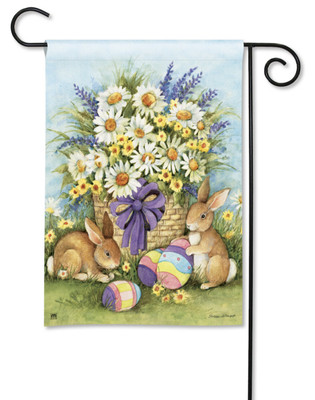 Breeze Art Easter Bunnies And Eggs Garden Flag