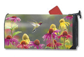 Hummingbird Mailwraps magnetic mailbox cover