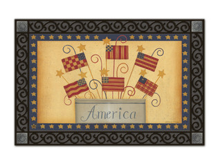 Welcome doormat with tray