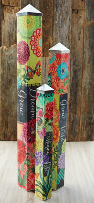 Set of 3 Boho Butterfly Poles