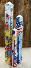 Set of 3 American Home Poles
