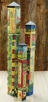 Garden Art Poles - Set of 3