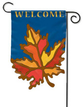Fall applique garden flag