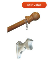 5 foot rotating flag pole and bracket sold as a set.