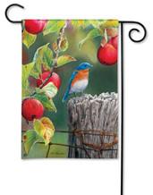 Bluebird garden flag