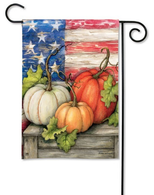Pumpkin garden flag