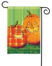 Pumpkin garden flag