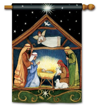Christmas house flag