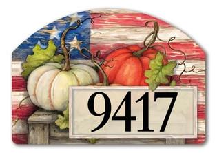 Fall address sign