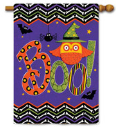 Halloween decorative flag Owl Boo House Flag