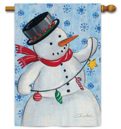 Snowman house flag by Toland