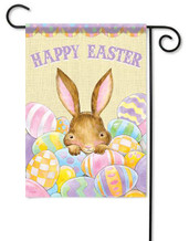 Outdoor Easter garden flag