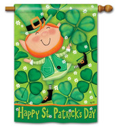 BreezeArt St. Patrick's Day House Flag