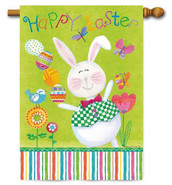 Happy Easter Outdoor House Flag