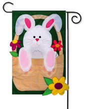 Unique 2-sided Easter garden flag