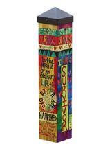Garden Art Pole by Stephanie Burgess - Studio M