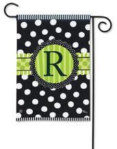 Monogram Garden Flag - Letter R