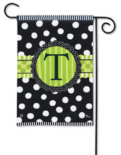 Monogram Garden Flag - Letter T