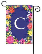 Monogram Garden Flag - Letter C