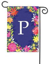 Monogram Garden Flag - Letter P