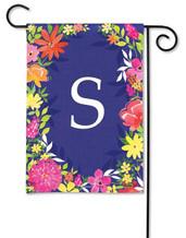 Monogram Garden Flag - Letter S