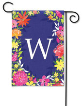 Monogram Garden Flag - Letter W