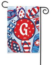 Monogram Garden Flag - Letter G