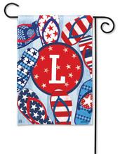 Monogram Garden Flag - Letter L