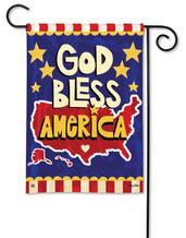 BreezeArt patriotic garden flag